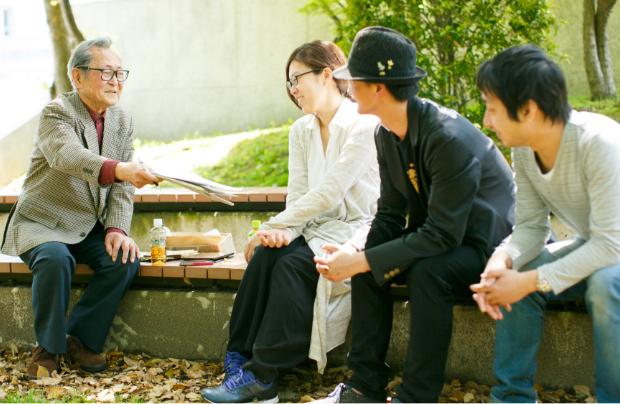 ヒロシマの記憶を継ぐ人インタビューの様子